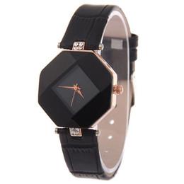 2019 orologi di moda Ladies Fashion Strass Watch Women Vogue cinturino in pelle analogico al quarzo da polso da donna Diamond Clock #Ju sconti orologi di moda