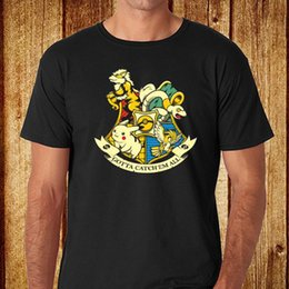372b706a New Top Tee Funny Hogwarts School Logo *Pikachu Men's Black T-Shirt Size  S-3Xl T Shirt for Men Latest Design White Short Sleeve Custom