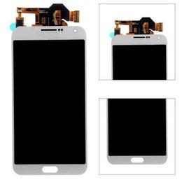 samsung e7 lcd Rebajas Para Samsung Galaxy E7 E7000 E700F Pantalla LCD Pantalla táctil digitalizador Asamblea ferr DHL Brillo se puede ajustar