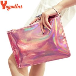 Wholesale quality wholesale hardware - Yogodlns 2018 Woman fashion fluorescence colour bags hardware made of EU standard high quality PU handbag Laser bags