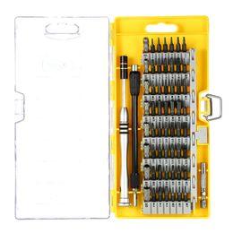 60 en 1 Juego de herramientas de reparación para destornilladores de precisión para teléfonos móviles Juego de herramientas de telecomunicación Magnético Torx hexagonal ranurado Phillips desde fabricantes