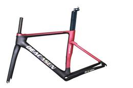 Wholesale xs frameset - DEACASEN 2018 T1000 Super light Cheap Di2&mechanical carbon fiber bike frame bicycle frameset XS S M L aero carbon road frame road frameset