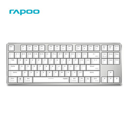 Wholesale Dual Os Windows - Original Rapoo MT500 Wired Mechanical Keyboard With Backlight 87 Keys Anti-ghosting for Windows and Mac OS Dual System - White
