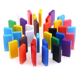 Wholesale Kids Toys Domino - 100pcs Kids Wooden Tumbling Domino Educational Toys Learning Toys For Children Boy and Girl Toys Bright Colored