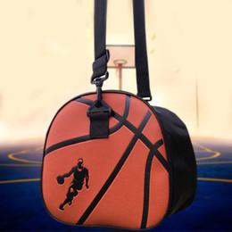 bolsa de futbol de cuero Rebajas Bolso de hombro de baloncesto negro de cuero de la PU bolsas de balón de fútbol de deporte a prueba de agua bolso de fútbol voleibol llevar bolsa de gimnasio de almacenamiento