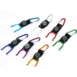 Wholesale Good Bottled Water - 1 PCS New Hot Outdoors Camping Carabiner Water Bottle Clip Holder Buckle Good Use with Compass Design
