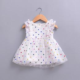 klassisches tüllkleid für mädchen Rabatt Party Mädchen Kleider Sommer Klassische Polka Dot Tüll Rock Baby Kleidung Mode Kinder Boutique Kinder Kleidung Neu