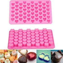 Wholesale Cookies Molds - Silicone Heart Design Cake Chocolate Cookies Baking Mould Soap Molds Tray Baking Mold