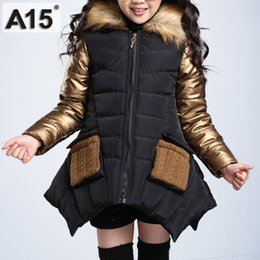 e3584f11815d Kids Girls Winter Jacket with Fur Collar Children Parka Clothes 2018 Baby  Warm Hooded Cotton Coats Big Size 4 6 8 10 12 14 Years