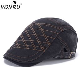 Wholesale Blue Beret For Men - Beret Hat for Men and Women Casual Boina Gorras Planas Vintage Denim Flat Cap for Female Boys Cap Summer Casquette Kasket