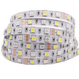 rgbw led light strips UK - DC12V 5m lot SMD 5050 60LEDs m IP20 IP65 Monochrome RGBW RGBWW Flexible Led Light Strip