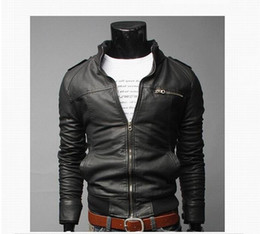 Argentina Estilo clásico de motociclismo chaqueta de cuero de la PU de los hombres Slim Fit Hombre Motor Faux Leather Jacket Men Parka supplier leather fashion motor men jacket Suministro
