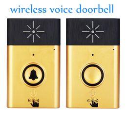 Für freies Verschiffen Goldfarbe H6 1 bis 1 drahtlose Sprachwechselsprechanlage Video-Türsprechanlage Innentürklingel Besucher-benennendes System Audio-Türsprechanlage von Fabrikanten