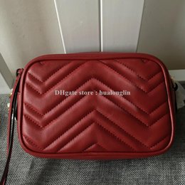 Wholesale red box clutch - Wholesale discount genuine leather original box high quality woman clutch purse brand designer women shoulder bag handbag cross body bag