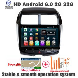 Wholesale Mitsubishi Car Stereo Gps - QZ industrial HD 1024*600 10.1inch Android 6.0 car dvd player For Mitsubishi ASX with GPS Glonas 3G 4G WIFI Radio BT SWC RDS Stereo free map