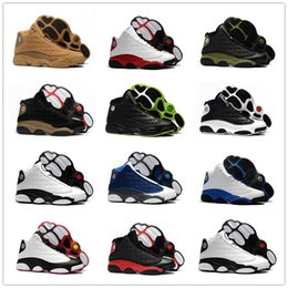 Wholesale panda m - 2018 New Arrival 13 Wheat Navy Blue Black Red White Panda Men's Basketball Shoes for High quality XIII 13s Casual Sports Sneakers Size 40-47