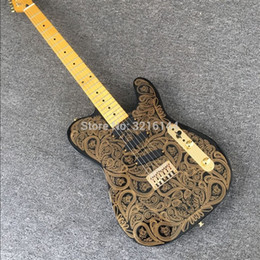 électrique réel Promotion Nouvelle guitare électrique de fleur d'or, accessoires d'or, vraies photos de la vente en gros d'usine, fournissent l'expédition de SME