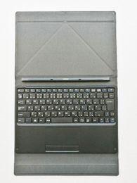 R teclado online-Nueva cubierta del caso del dock del teclado magnético de la versión de JA para la tableta Ezpad 4S del puente con Keyborad con el botón táctil y el botón L + R