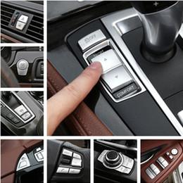 Canada Chrome ABS Intérieur de la voiture Boutons Paillettes Décoration Couverture Garnitures Décalques pour BMW 5 série f10 f18 520 525 528 530 2011-17 cheap decoration series Offre