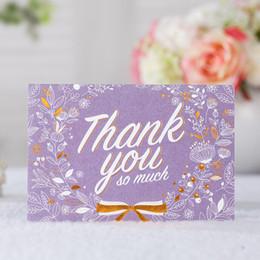 Cartes De Remerciements Fleur Pourpre Avec Lenveloppe Carte Voeux Darc Destampillage Chaud RSVP Mariage DInvitation Devenement D