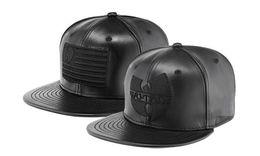 Wholesale Wu Tang Hats - 2018 new Black leather wu tang snapback hat wutang baseball cap wu-tang clan bone gorras