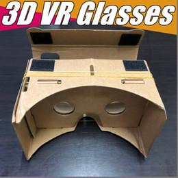 2019 s6 edge plus smartphone DHL 3D Óculos VR Óculos DIY Papelão Do Google Do Telefone Móvel Realidade Virtual Cartão Unofficial VR Toolkit Óculos 3D CCA1785 B-XY