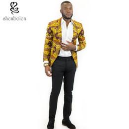 Wholesale Wax Prints Fashion - spring autumn summer 2016 fashion mens leisure suit African man clothing dashiki batik wax printing jacket coat Suits Blazer