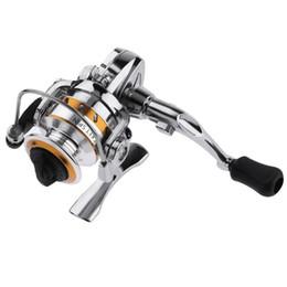 2019 mini carrete de giro Mini Zinc Alloy 4.3: 1 Spinning Fishing Reel 2-Bearing Rueda de pesca Gear mini carrete de giro baratos