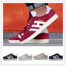 Wholesale White Suede Shoes For Men - Newest Suede Gazelle Running Shoes 2018 For Men Casual Sneakers Women Sports Shoes Racers 90 Hiking Sneakers Outdoor Athletic Jogging Shoes