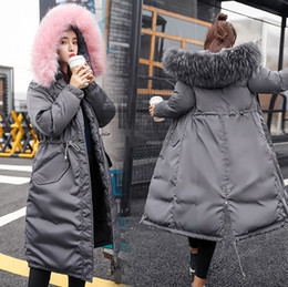 edge trimmers Coupons - Winter Holiday Parkas Fur Hood Warm Puffy Baggy Parka Coat Cotton Windbreaker Jacket Fashion Outerwear Streetwear Drawstring Women's Parka