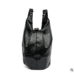 Sacos com marca japonesa on-line-Fábrica de vendas da marca saco multifuncional tendência Coréia mochila grande Japonês minimalista mochila impermeável Satchel De Couro Dos Homens