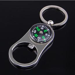 2019 metall geschenk kompass Kreative Outdoor Kompass Flaschenöffner Metall Schlüsselanhänger Schlüsselanhänger Schlüsselbund Metall Bier Bar Werkzeug Geschenk günstig metall geschenk kompass