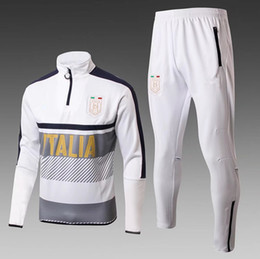 Wholesale Football Training Pants Tight - Italy tracksuit italia Sale 2017 2018 Survetement 17 18 football training suit kits Soccer Chandal DYBALA tight pants sweater shirt