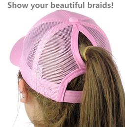 2018 Muti-colors Outdoor sunshade Ponytail Baseball Cap Tennis cap Women  Messy Bun Baseball Hat Snapback cbeeab9c8971
