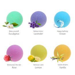 Wholesale organic oils wholesale - Bath Bombs Ball Organic Bath Bombs Bubble Salts Ball Essential Oil Stress Relief Exfoliating Vanilla Lavender Rose Flavor 40g Random Colors