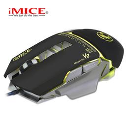 2019 bottone del usb del pc Originale iMice V9 Wired Gaming Mouse Mouse ottico USB 3200 DPI Mouse 7 Button PC Mouse per CS DOTA LOL Gamer Mouse da gioco professionale bottone del usb del pc economici