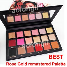 Wholesale quality wear - Makeup 18 Colors eyeshadow Beauty Rose Gold remastered palette Shimmer Matte Eye shadow Pro Eyes Brand Cosmetics best quality Palette