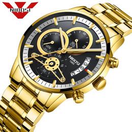 2019 relojes baratos NIBOSI relojes deportivos de los hombres nuevos tipo reloj de lujo reloj de cuarzo resistente al agua ejército para hombres frío negro Relogio Masculino rebajas relojes baratos