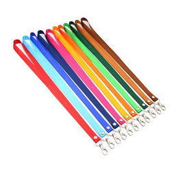 Wholesale Usb Neck Straps - Neck Strap Lanyard For Mobile Phone USB Holder ID Name Badge Holder Keys Metal Clip