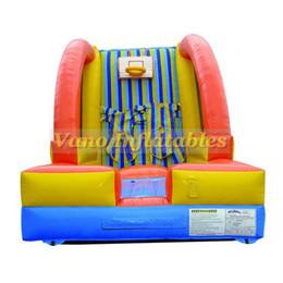 Traje divertido online-Pared pegajosa inflable PVC comercial Casa de la despedida de salto de la pared pegajosa humana y juego de la diversión del juego con el envío libre del ventilador