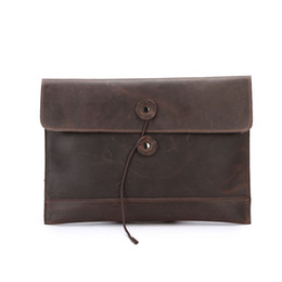 12c1b531d01f branded leather business portfolio UK - ONEFULL New QUALITY Men Genuine  Leather Retro Portfolio Bag Vintage