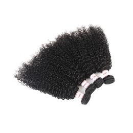 Argentina Cabello humano rizado rizado indio 4 paquetes 100% cabello indio sin procesar Extensiones de cabello rizado rizado Negro natural Suministro