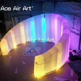 Wholesale wall tents - Charming beautiful Giant Inflatable Led Photo Booth Wall For Event party DJ photo booth wall  backdrop with logo
