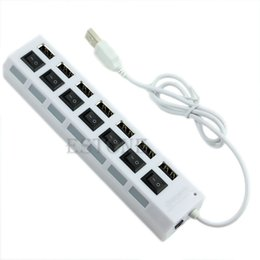 Wholesale Expansion Ports - 7 Port High Speed USB 2.0 External Multi Expansion Hub with ON   OFF Switch