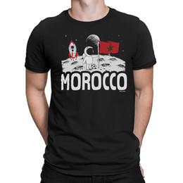 2019 copas de luna Camiseta MARRUECOS para hombre Bandera de MOON Copa Mundial 2018 Fútbol Regalo patriótico divertido copas de luna baratos
