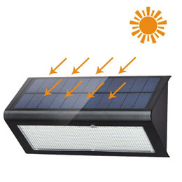 Wholesale Microwave Sensors - Microwave Radar Motion Sensor Solar Light 48 LED Super Bright 1100Lm 4 Modes Outdoor Garden Wall Lamp Outdoor Security Yard Driveway Garage