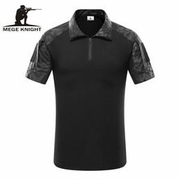 Chemises de l'armée en Ligne-Mege Tactical Camouflage Hommes Armée Polo Combat, Rapid Assault Acu Multicam Hommes Tops Tees, Airsoft Paintball Polo