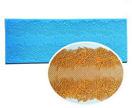Wholesale wedding fondant molds - Flower Silicone Lace Mold Fondant Molds Cake Decorating Tools Chocolate Gumpaste Moulds Wedding Cake Decoraton Bakeware YB200305