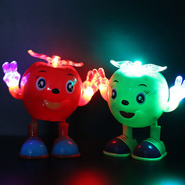Wholesale Pc Songs - Cartoon fruit one pcs vocal toy eletric light song music playing random color