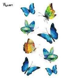 Wholesale Tattoo Stickers For Kids - WYUEN Butterfly Women Temporary Tattoo Sticker Tattoos for Men Fashion Body Art Kids Children Hand Fake Tatoo 10.5X6cm A-203